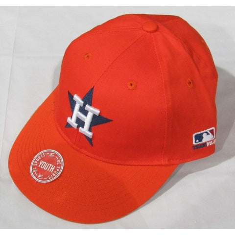 MLB Houston Astros Youth Cap Cooperstown Raised Replica Cotton Twill Hat