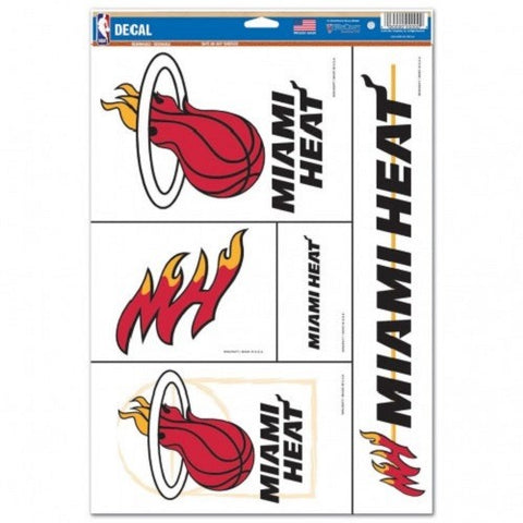 NBA Miami Heat Ultra Decals Set of 5 By WINCRAFT