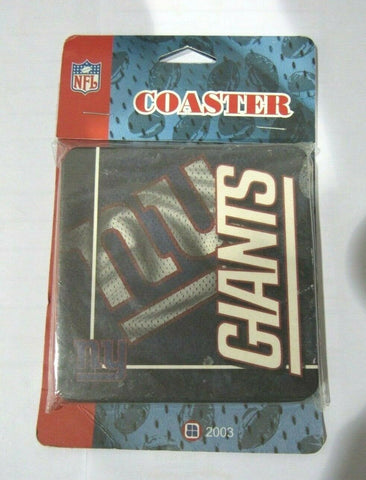 NFL New York Giants Logo on Jersey Image Thick Paper Coasters 6 Pack