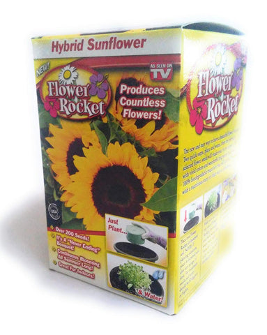 Flower Rocket AS SEEN ON TV Hybrid Sunflower Kit Over 200 Seeds