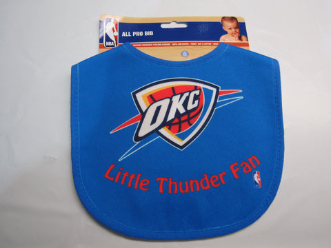 NBA Little Oklahoma City Thunder Fan Infant Baby Bib All Blue Wincraft