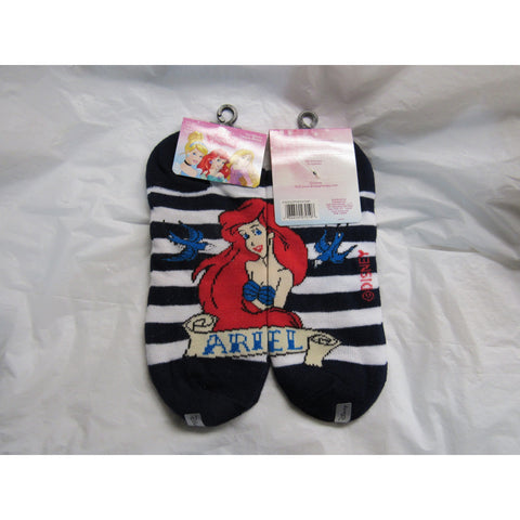 1 Pair Kid's Disney Princess Ariel Ankle Socks Size 9-11