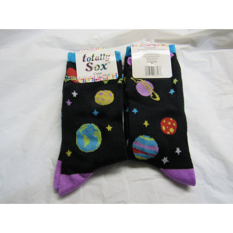 1 Pair Space Crew Socks Size 9-11 by totally Sox