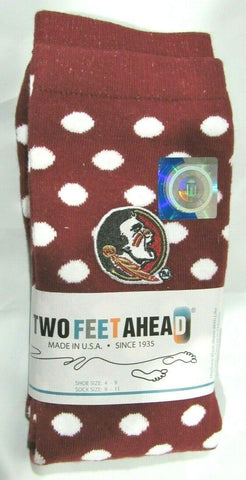 NCAA Florida State Seminoles Logo Red w/Dot Knee Socks Size 4-9 Two Feet Ahead