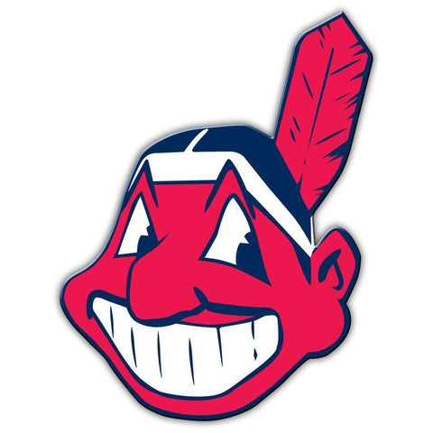 MLB 12 INCH AUTO MAGNET CLEVELAND INDIANS ALTERNATE LOGO