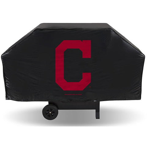 MLB Cleveland Indians 68 Inch Red Vinyl Economy Gas / Charcoal Grill Cover
