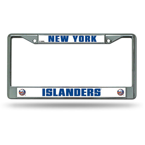 NHL New York Islanders Chrome License Plate Frame Thick Raised Letters