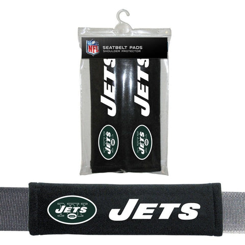 NFL New York Jets Velour Seat Belt Pads 2 Pack by Fremont Die