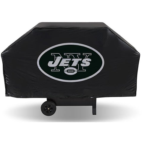 NFL New York Jets 68 Inch Vinyl Economy Gas / Charcoal Grill Cover
