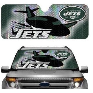 "NFL New York Jets ""JET"" Automotive Sun Shade Universal Size Team ProMark"