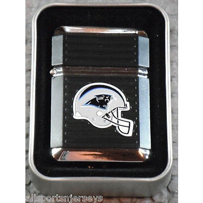 NFL Carolina Panthers Refillable Butane Lighter w/Gift Box by FSO