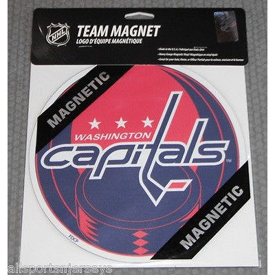 NHL Washington Capitals 8 Inch Auto Magnet Logo Over Puck by Fremont Die
