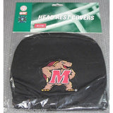 NCAA Maryland Terrapins Headrest Cover Embroidered Logo Set of 2 by Team ProMark