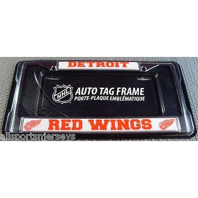 NHL Detroit Red Wings Chrome License Plate Frame Thick Letters