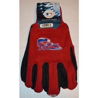 MLB NWT NO SLIP UTILITY WORK GLOVES WORK LOGO - PHILADELPHIA PHILLIES