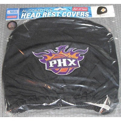 NBA Phoenix Suns Headrest Cover Embroidered Logo Set of 2 by Team ProMark