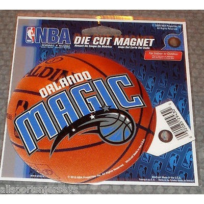NBA Orlando Magic Logo on Basketball 4 inch Auto Magnet by WinCraft
