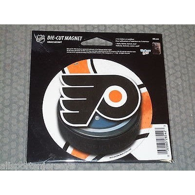 NHL Philadelphia Flyers Round Puck Style 4 inch Auto Magnet by WinCraft