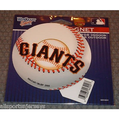 MLB San Francisco Giants Logo on Baseball 4 inch Auto Magnet by WinCraft