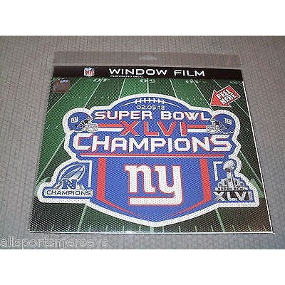 "NFL Super Bowl XLVI Champs Die-Cut Window Film Approx. 12"" by Fremont Die"