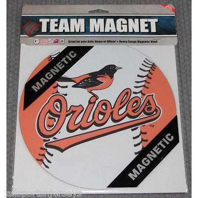 MLB Baltimore Orioles Logo 8 Inch Auto Magnet 2-tone Ball by Fremont Die