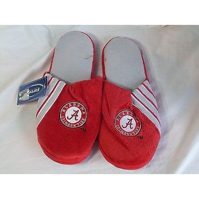 NWT NCAA STRIPE LOGO SLIDE SLIPPERS - ALABAMA CRIMSON TIDE - SMALL