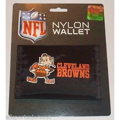 NFL Cleveland Browns Tri-fold Nylon Wallet with Printed ALT Logo