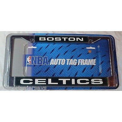 NBA Boston Celtics Chrome License Plate Frame Laser Cut