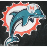 NFL Miami Dolphins Headrest Cover Embroidered Old Logo Set of 2 by Team ProMark