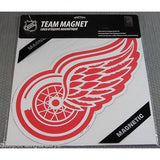 NHL 12 INCH AUTO MAGNET DETROIT RED WINGS LOGO
