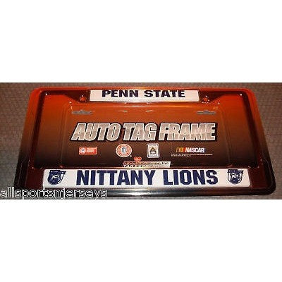 NCAA Penn State Chrome License Plate Frame Thin Letters