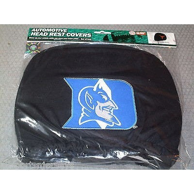 NCAA Duke Blue Devils Headrest Cover Embroidered Logo Set of 2 by Team ProMark