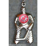 NHL New Jersey Devils  Hockey Player Key Chain Logo on Chest CONCORD Ind.