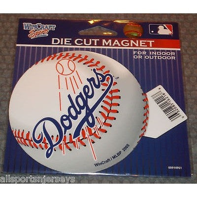 MLB Los Angeles Dodgers  Logo on Baseball 4 inch Auto Magnet by WinCraft