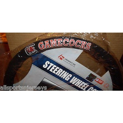NCAA POLY-SUEDE MESH STEERING WHEEL COVER SOUTH CAROLINA GAMECOCKS