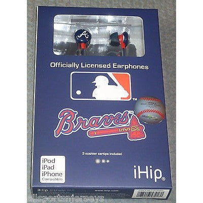 MLB Team Logo Earphones Atlanta Braves By iHip