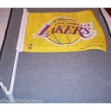 NBA Los Angeles Lakers Logo on Yellow Window Car Flag by Rico Industries