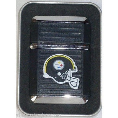 NFL Pittsburgh Steelers Refillable Butane Lighter w/Gift Box by FSO