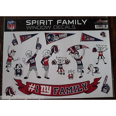 NFL New York Giants Spirit Family Decals Set of 17 by Rico Industries