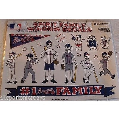 MLB Atlanta Braves Spirit Family Decals Set of 17 by Rico Industries