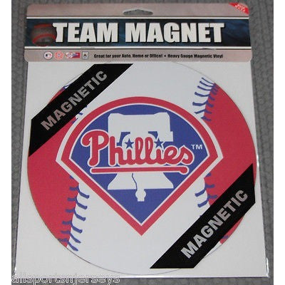 MLB Philadelphia Phillies 8 Inch Auto Magnet 2-tone Ball by Fremont Die