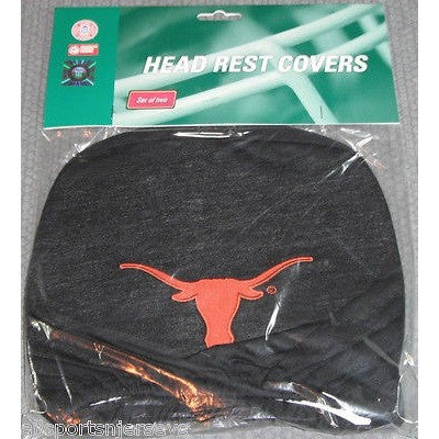 NCAA Texas Longhorns Headrest Cover Embroidered Logo Set of 2 by Team ProMark