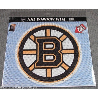 "NHL Boston Bruins Die-Cut Window Film Approx. 12"" by Fremont Die"