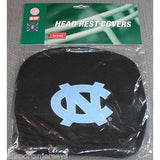 NCAA North Carolina Tar Heels Headrest Cover Embroidered Logo Set of 2 by Team ProMark