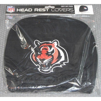NFL Cincinnati Bengals Headrest Cover Embroidered Logo Set of 2 by Team ProMark