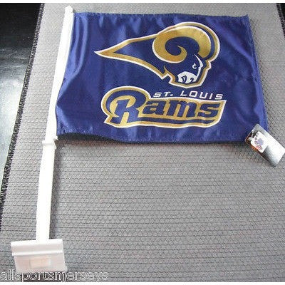 NFL St. Louis Rams Logo on Black Window Car Flag
