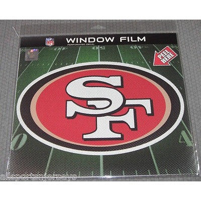 "NFL San Francisco 49ers Die-Cut Window Film Approx. 12"" by Fremont Die"