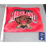 NCAA Maryland Terrapins Logo on Window Car Flag by Fremont Die