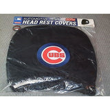 MLB Chicago Cubs Headrest Cover Embroidered Logo Set of 2 by Team ProMark
