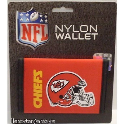 NFL Kansas City Chiefs Tri-fold Nylon Wallet with Printed Helmet